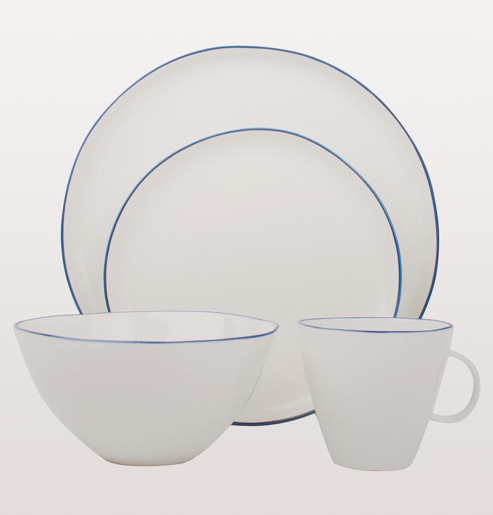 Abbesses plates blue line by Canvas Home tableware