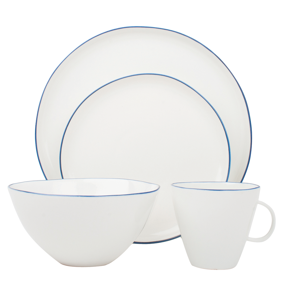 Canvas Home Abbesses dinner set blue rim