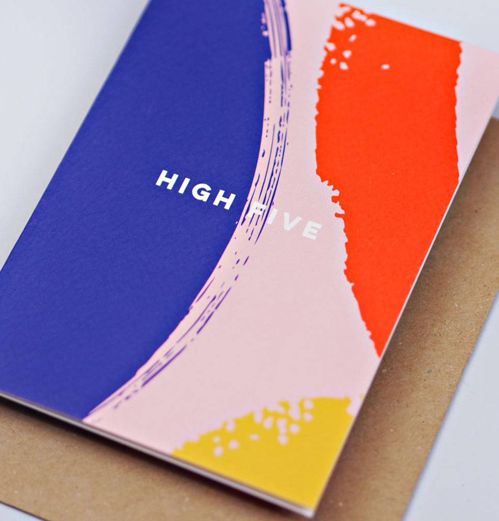 The Completist HIGH FIVE card. £3.50 wagreen.co.uk