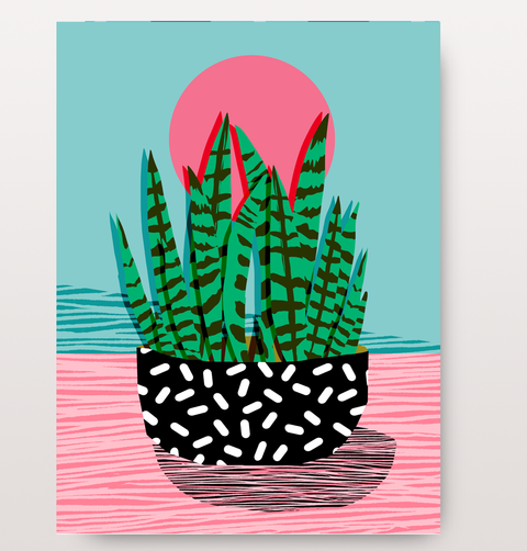 Amped House plant card by East End Prints