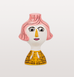 CONCHITA PINK HAIR LADY CANDLEHOLDER