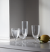 Canvas home, white wine glasses. Clear glassware for dining and entertaining
