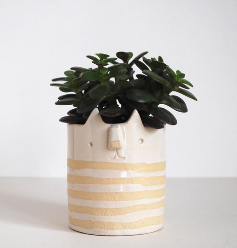 CAT PLANTER STRIPE