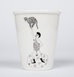 Strong man with leopard cat ceramic cup by Helen B