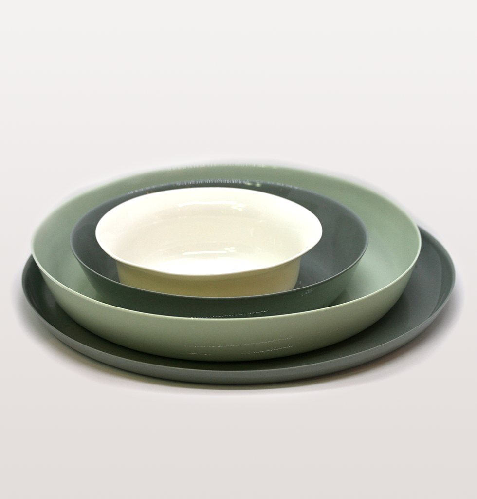CEREAL BOWL GREY - W A Green London