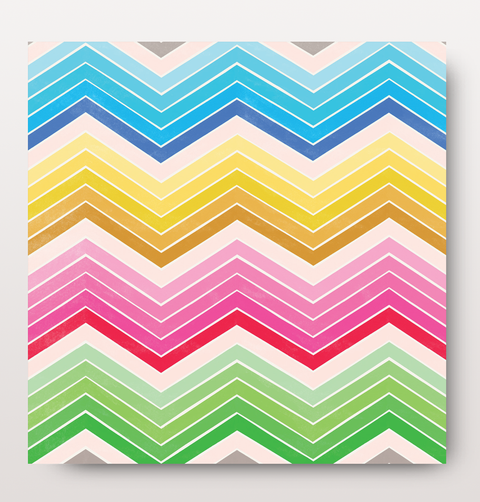 Striped bright card