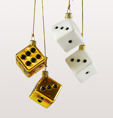 70s LUCKY DICE GOLD