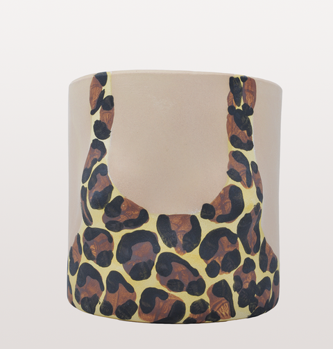 LEOPARD GIRL LIGHT SWIMSUIT PLANT POT