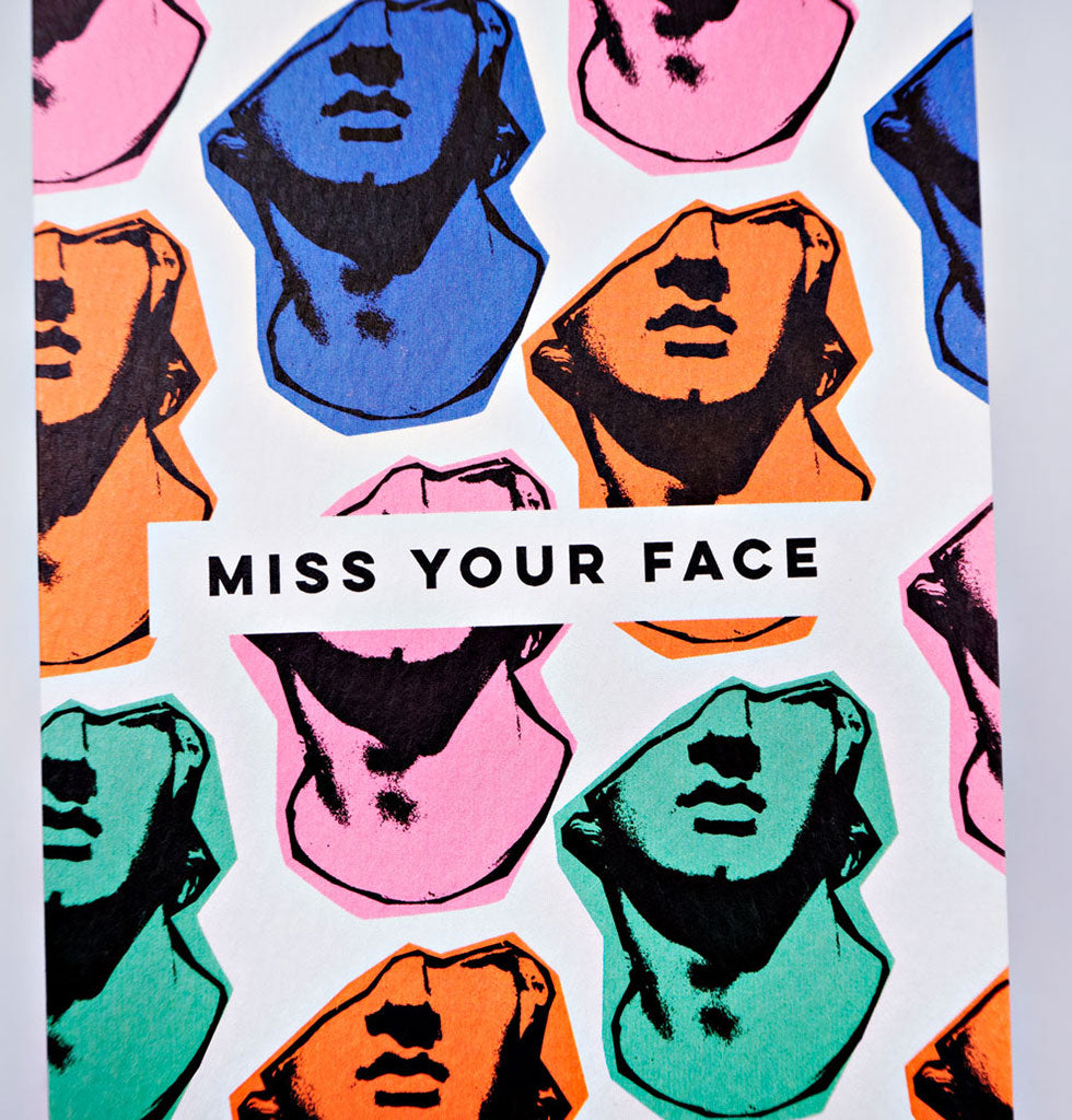 The Completist MISS YOUR FACE card. £3.50 wagreen.co.uk