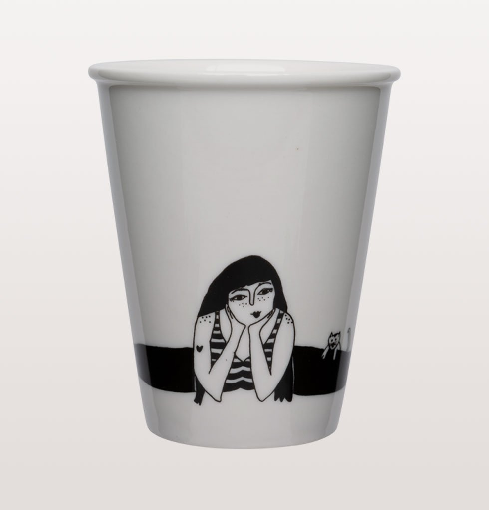 Yoga splits girl cup by Helen B at W.A.Green Shoreditch