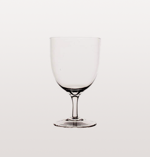 AMWELL CLEAR SHORT STEM RED WINE GLASS