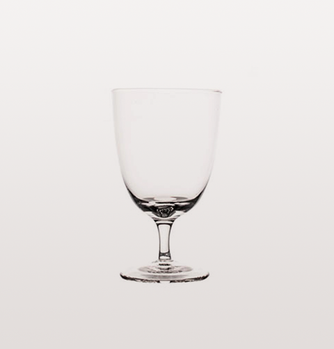 SET OF FOUR AMWELL CLEAR SHORT STEM WHITE WINE GLASS