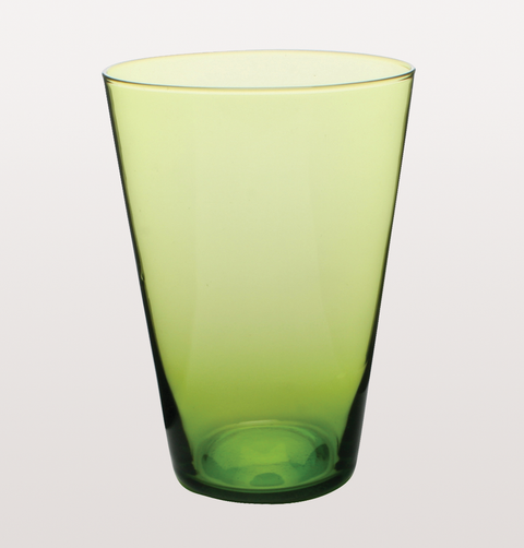 LIME GREEN EAU MINERALE GLASS