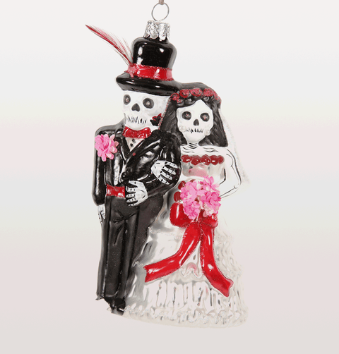 Day of the dead bride and groom decoration mexican Christmas festival