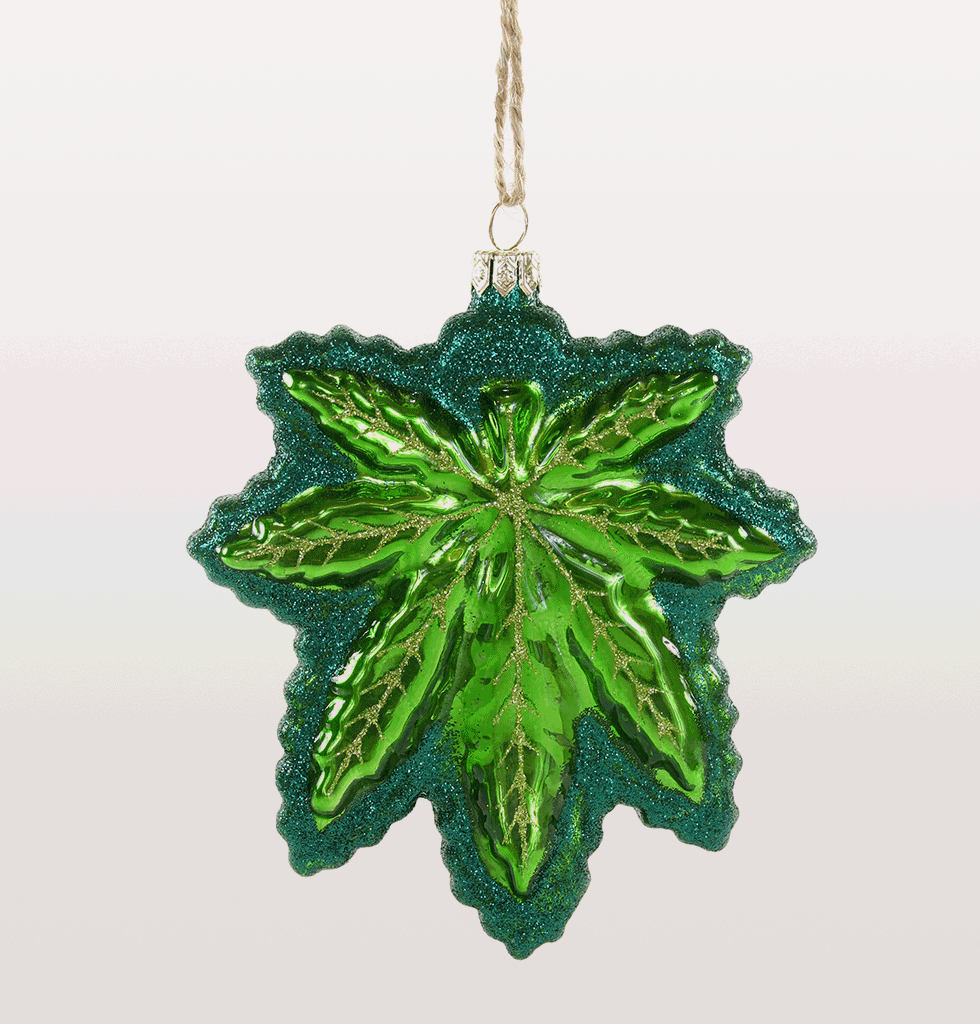 CANNABIS LEAF CHRISTMAS DECORATION HASHISH LEAF