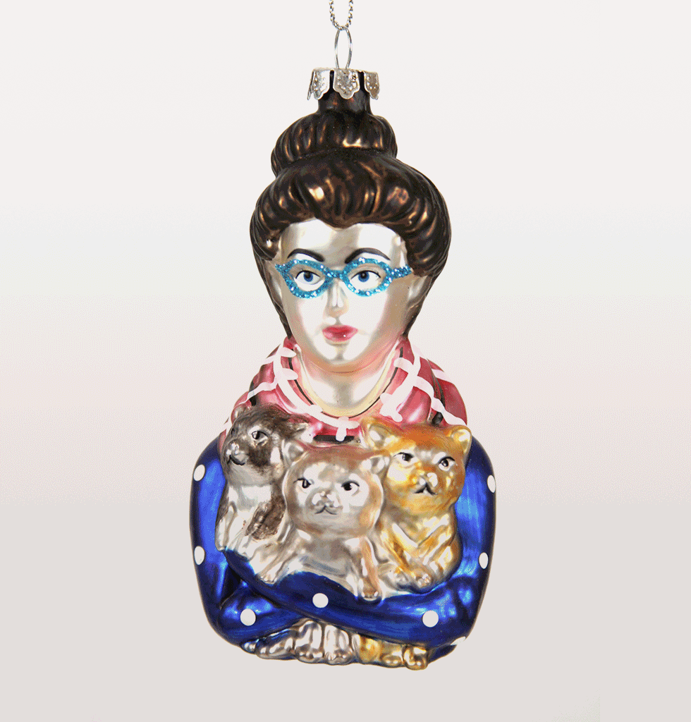 Cat woman lady Christmas Decoration