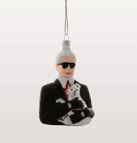 KARL LAGERFELD & CHOUPETTE CHRISTMAS DECORATION