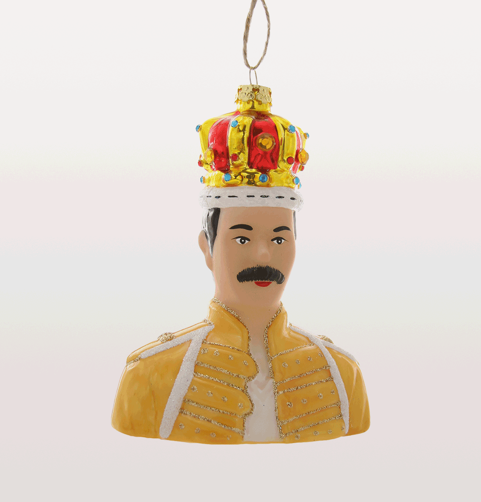 QUEEN FREDDIE MERCURY CHRISTMAS DECORATION