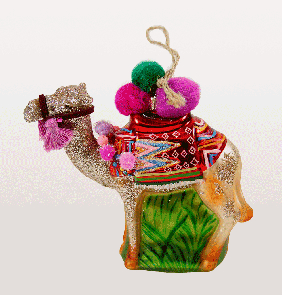 POM POM CAMEL CHRISTMAS DECORATION