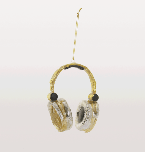 Gold headphones Christmas decorations ultimate urban decoration