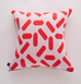 TIC-TAC CUSHION GERANIUM RED LARGE