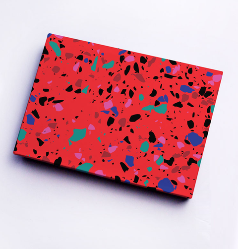 RED TERRAZZO GIFT WRAP