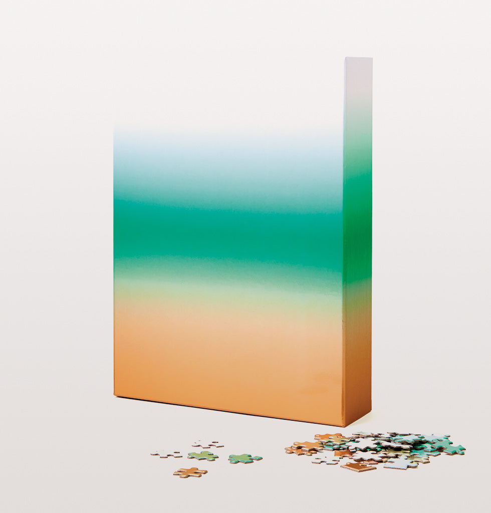 GRADIENT PUZZLE LARGE 1000 PIECE BRONZE TEAL