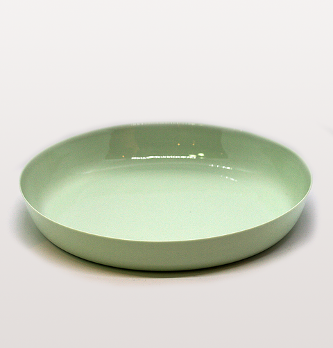 IST London, serving dish Mint green Limoges porcelain tableware, handmade slip cast plate dinnerware