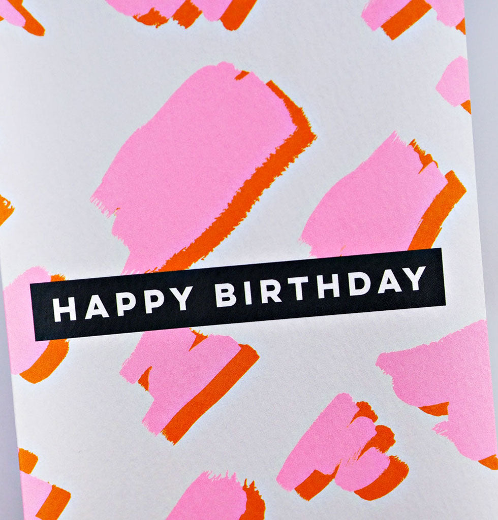 Our Top Drawer card collection features 6 stunning card designs by the high priestess of stationery, The Completist.  Perfect set of cards to have to hand whenever the occasion arises; featuring 2 birthday designs, 2 supportive designs, a thank you and a plain art card for when only your words will do.  Happy Birthday (pink animal) Happy Birthday (blue terrazzo) Miss your face Hello You Thank you so much Miami Art Card