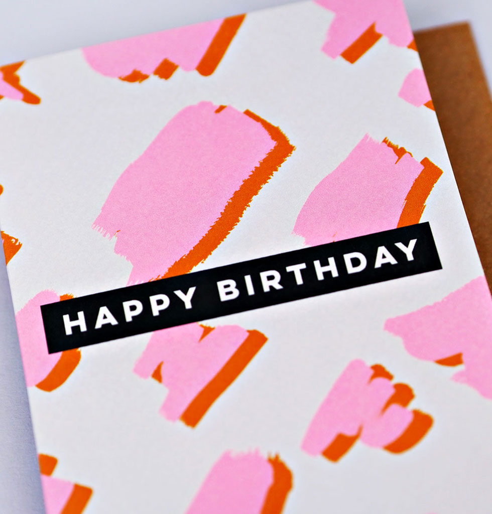 The Completist HAPPY BIRTHDAY card. £3.50 wagreen.co.uk