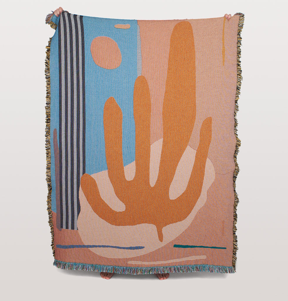 Hazelwood throw designed by Berlin based artist Raby-Florence Fofana in collaboration with Slowdown Studio.