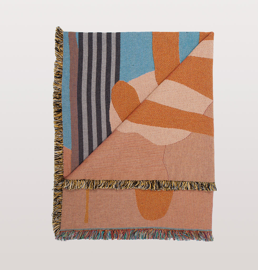 Hazelwood throw designed by Berlin based artist Raby-Florence Fofana in collaboration with Slowdown Studio. £245 wagreen.co.uk