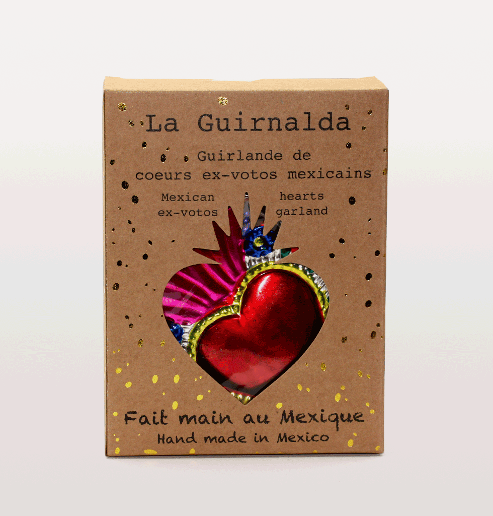Mexican Tin heart garland