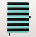 A5 STRIPED GREEN AND BLACK NOTEBOOK