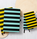 A5 STRIPY YELLOW AND BLACK NOTEBOOK