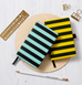 A6 STRIPED YELLOW AND BLACK NOTEBOOK