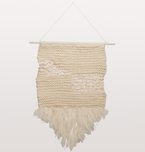 WHITE WOOL HANGING WALL ART
