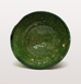 Small green Moroccan meze bowl or dish for hummus side view