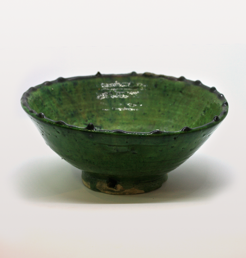 Medium green Moroccan meze bowl