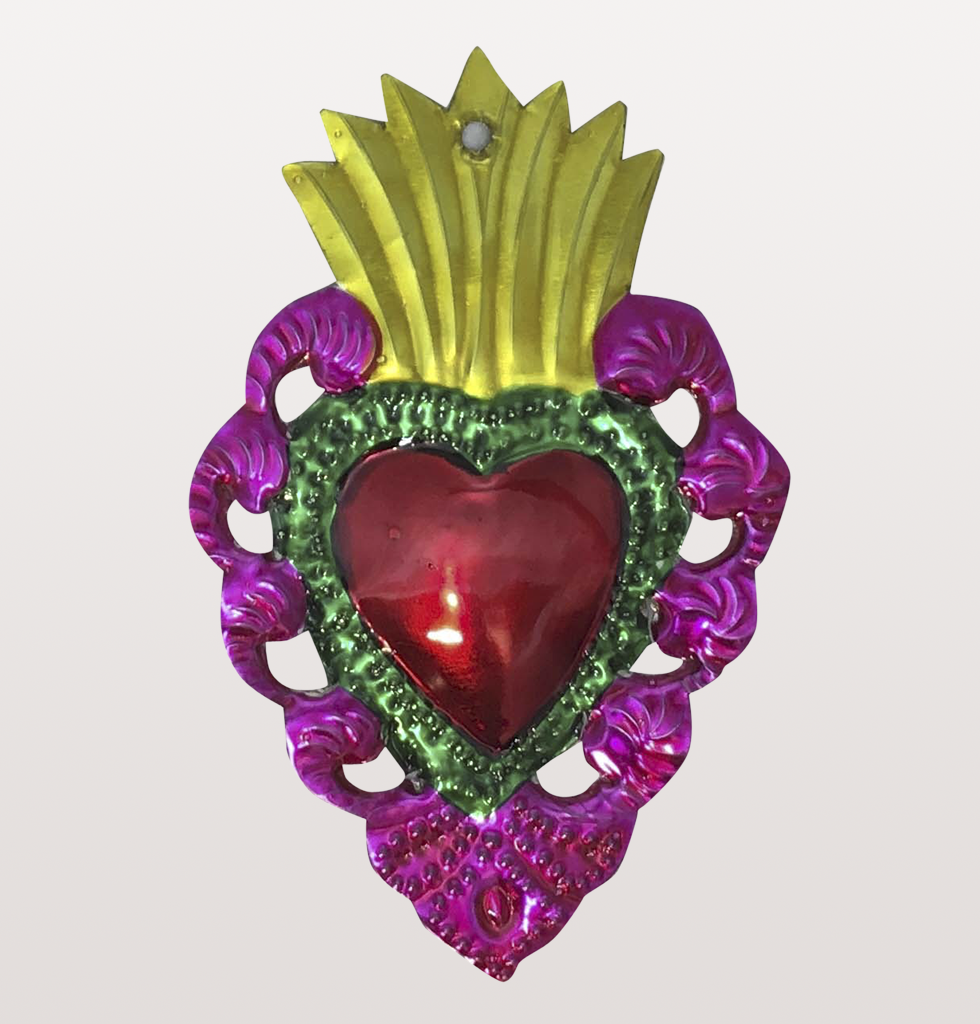 ex voto mexican tin heart