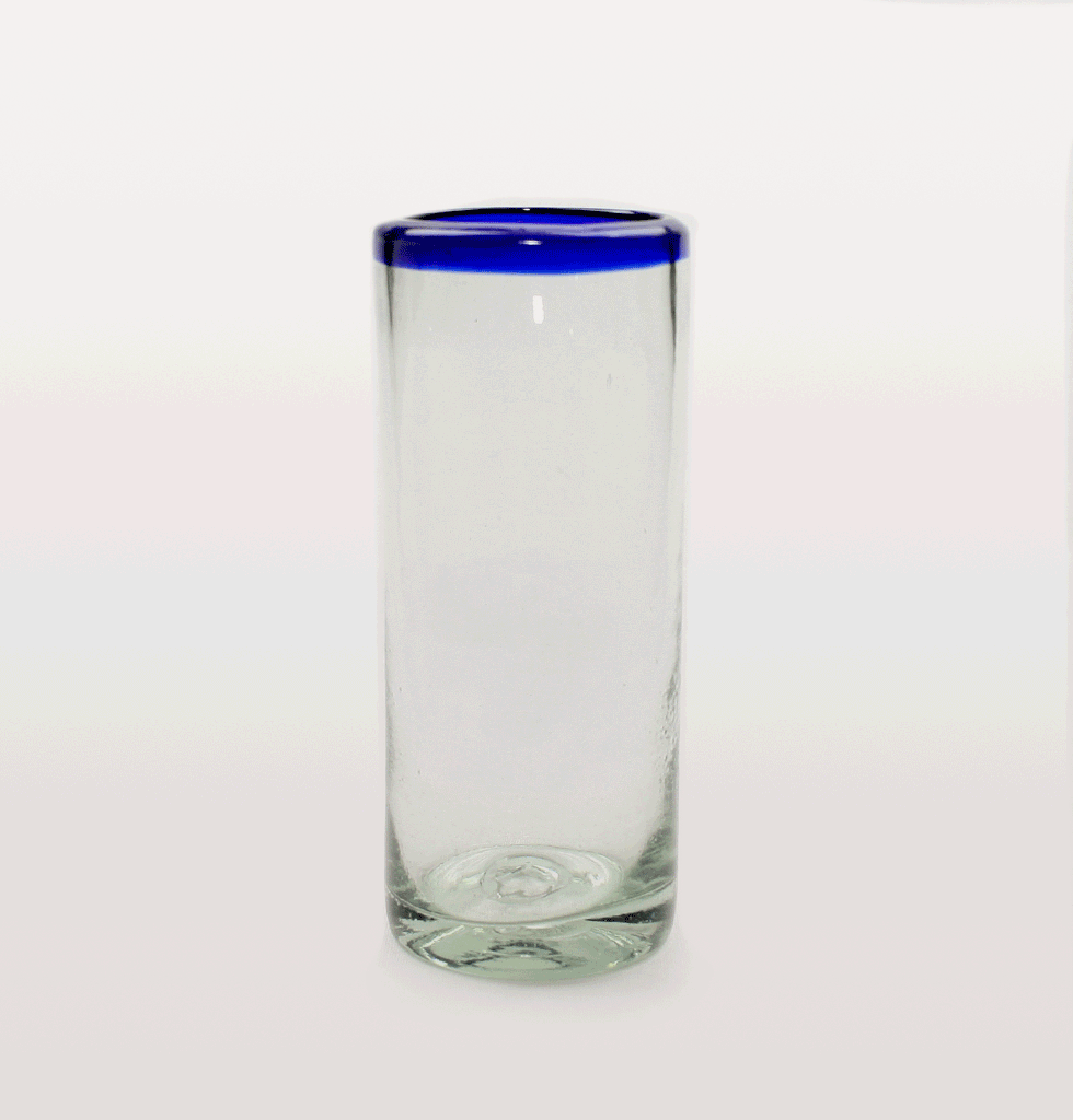 MILAGROS | Blue rim Mexican highball glass. £7 wagreen.co.uk