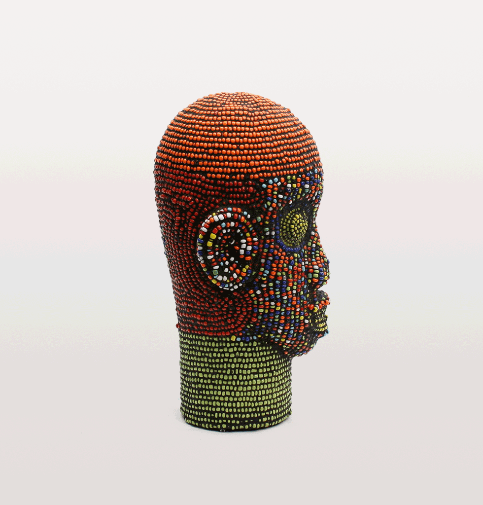 JANICE BEADED IFE HEAD