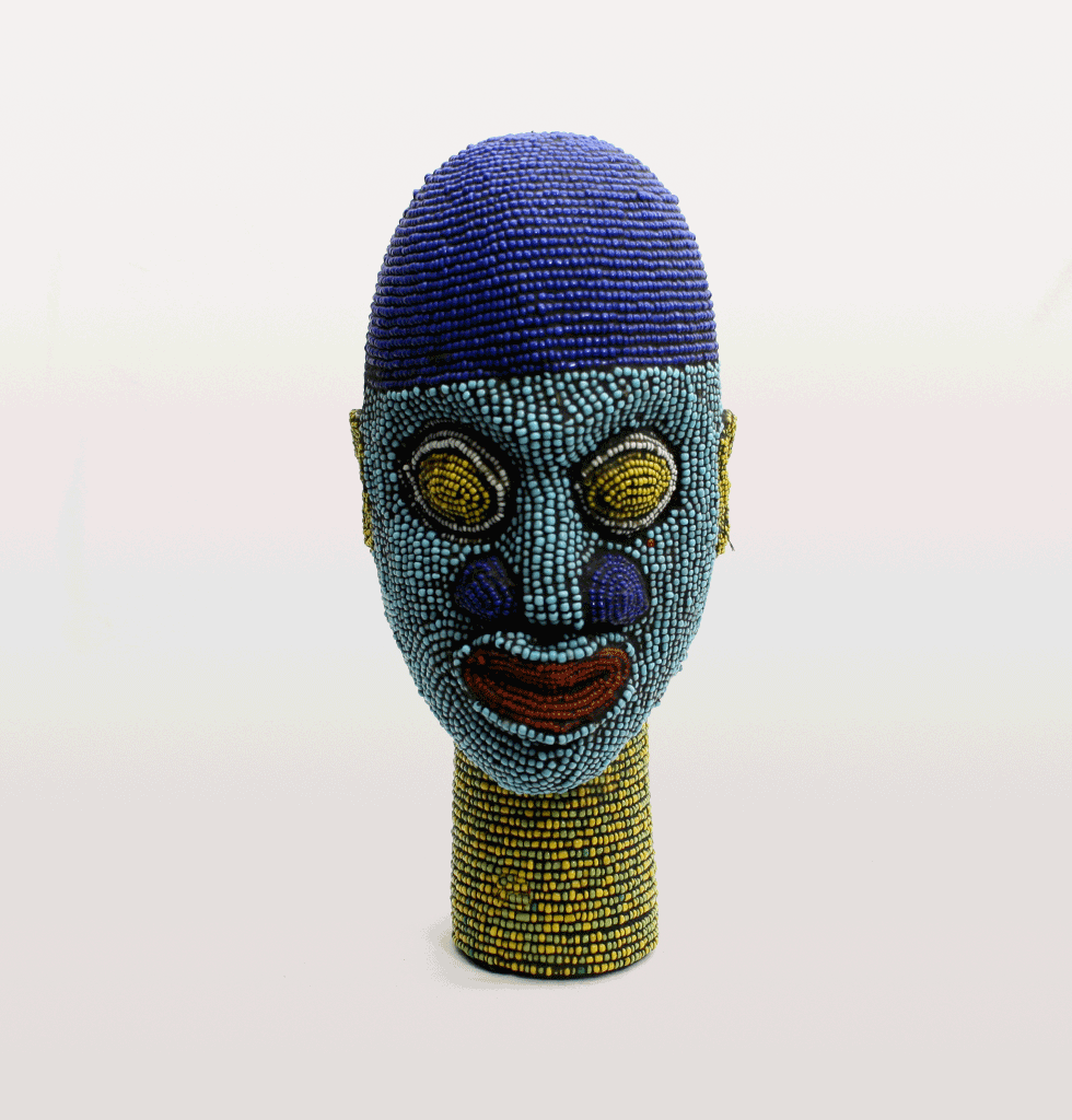 Beaded Africa Ife head