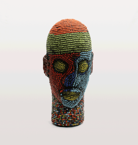LANNA BEADED IFE HEAD