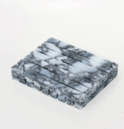 grey marble soap dishes sustainable recycled plastic