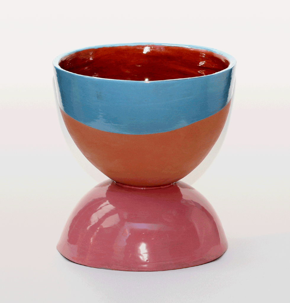 BLUE & PINK CHUBBY EGG CUP PLANT POT MEDIUM