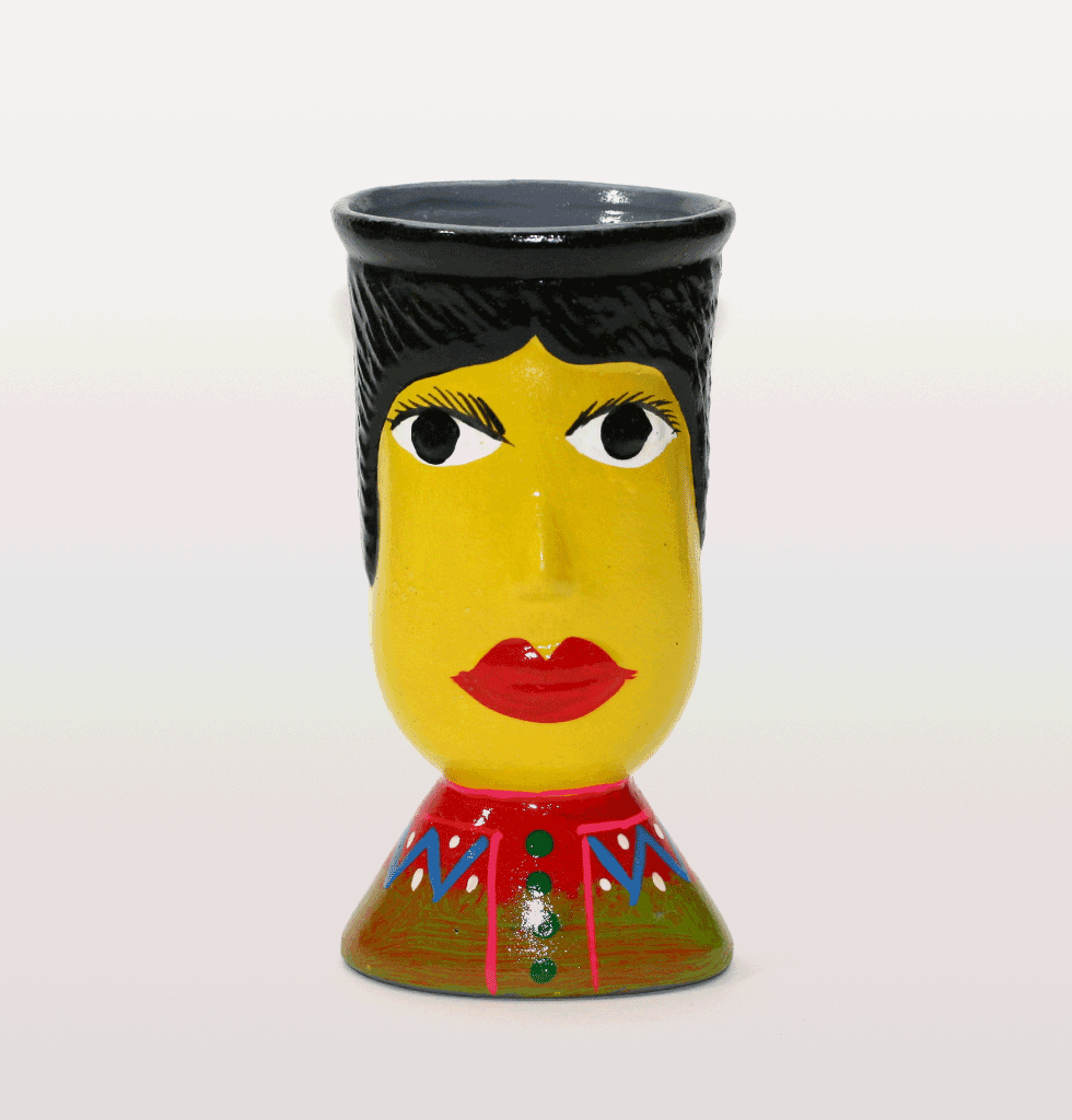 Yellow guatamala head vase. £20 wagreen.co.uk