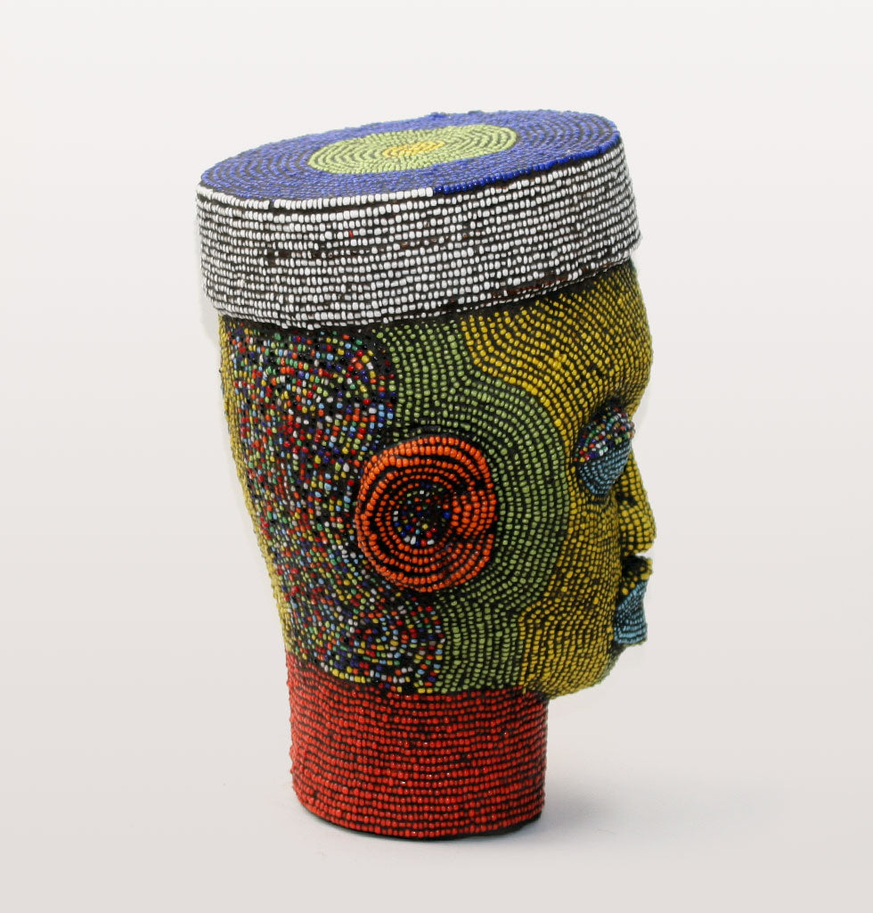 W.A.GREEN | AFRICAN IFE HEADS | JUNIOR DECORATED BEADED HEAD. £450 wagreen.co.uk