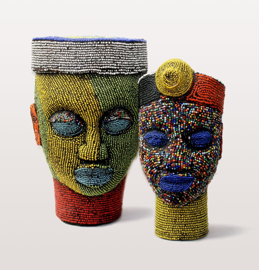 W.A.GREEN | AFRICAN IFE HEADS | DECORATED BEADED HEAD. wagreen.co.uk
