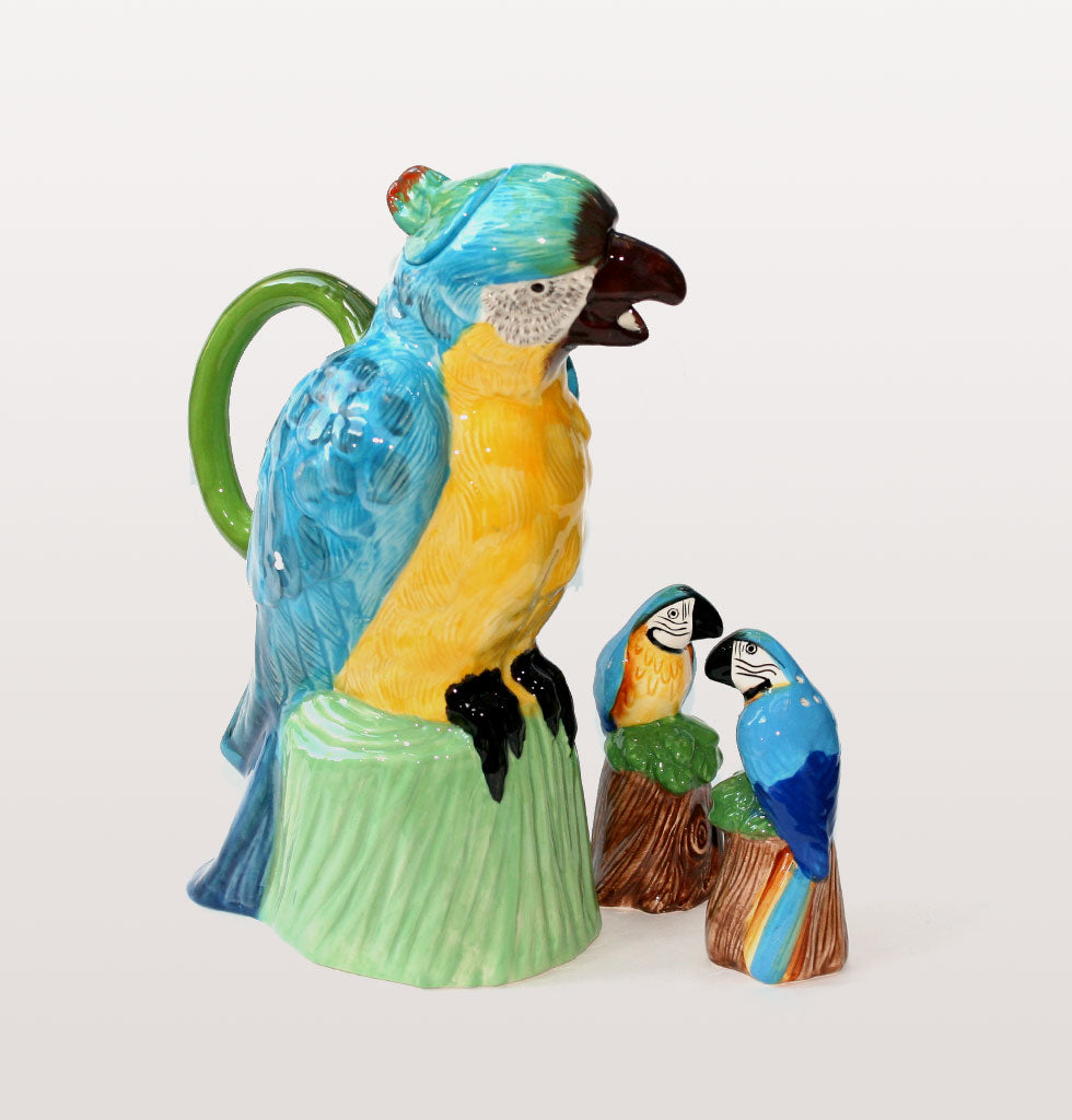 W.A.GREEN | PARROT SALT AND PEPPER SHAKER SET